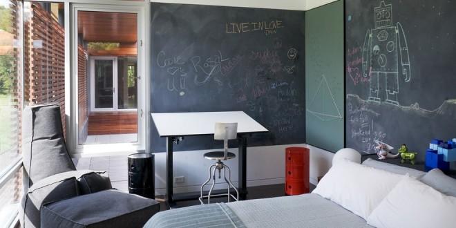 Colores paredes dormitorios pintura pizarra hoy lowcost - Pintura paredes colores ...