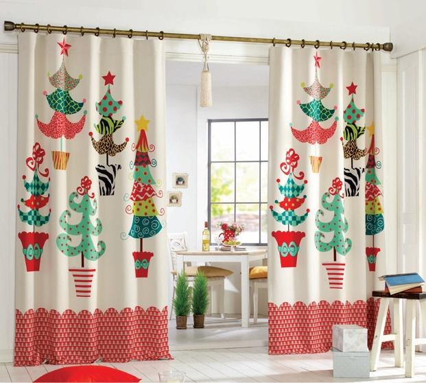 cortinas con motivos navideños