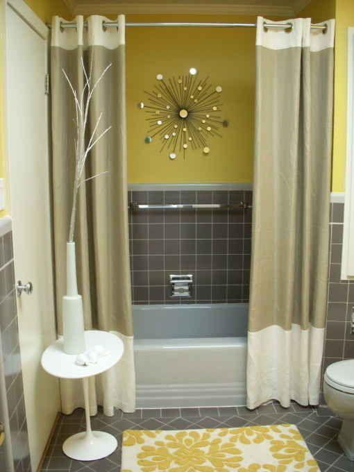 Baños decorados amarillos
