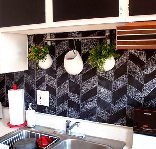 Pintura de pizarra usos e ideas originales hoy lowcost - Decoracion pared cocina ...