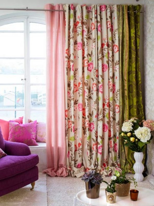 Delightful Decoracion Cortinas Estampadas