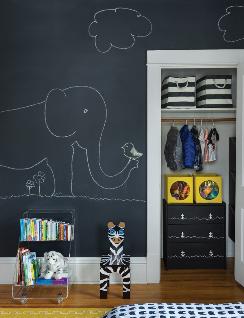 Pintura de pizarra usos e ideas originales hoy lowcost - Ideas pintar habitacion infantil ...