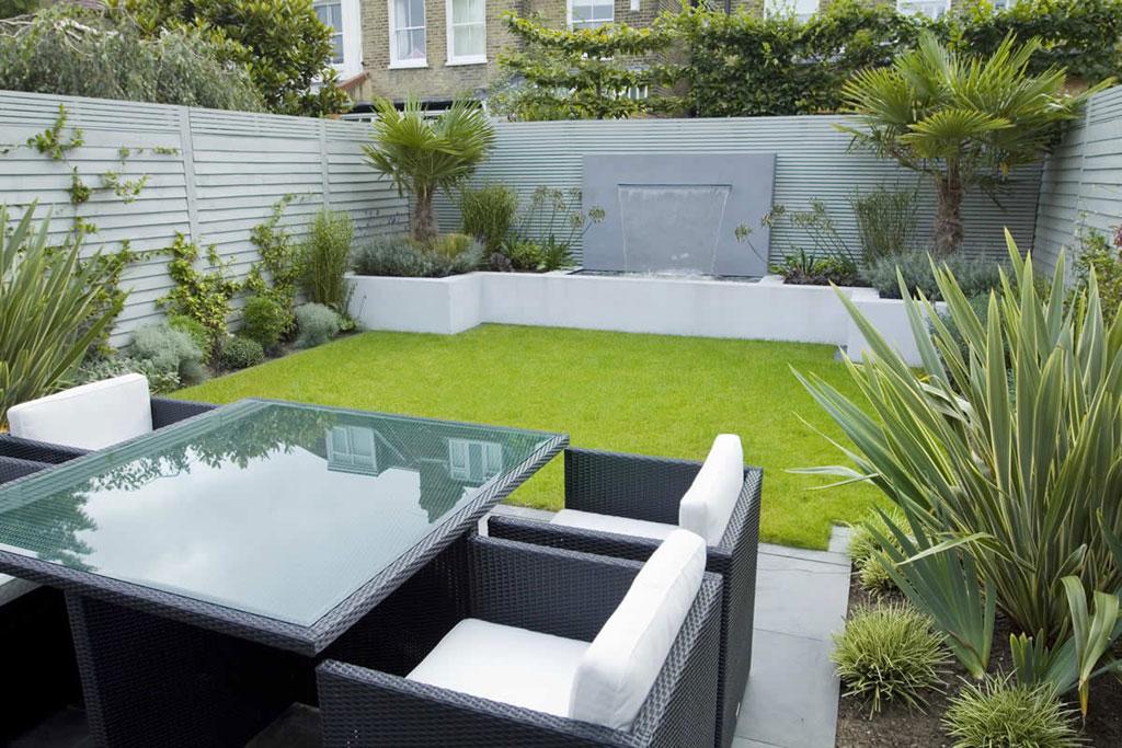 decoracion jardin con muebles