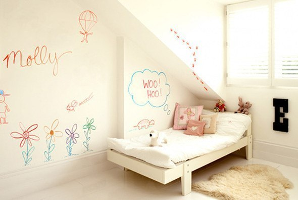 Pintura de pizarra usos e ideas originales hoy lowcost - Decoracion color paredes ...
