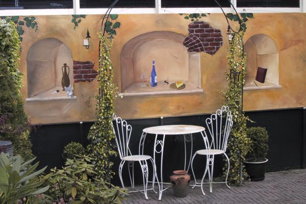 decoracion rustica jardin sencillo
