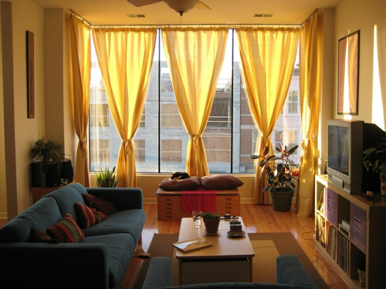 50 ideas decoraci n cortinas para 2018 hoy lowcost - Salones con cortinas ...