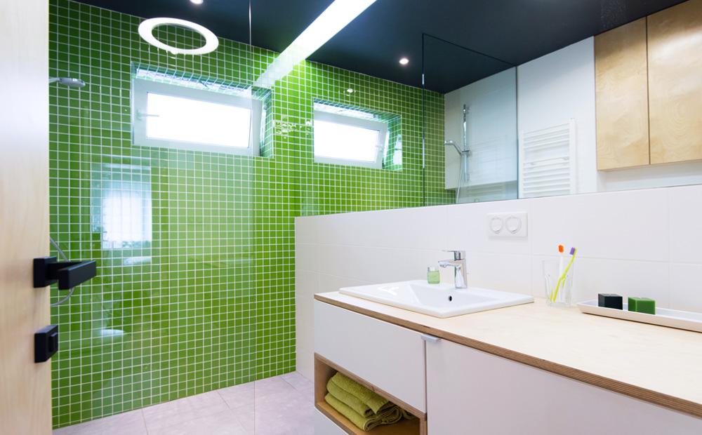 deseño baños verdes