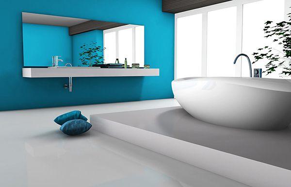 diseño baños azul