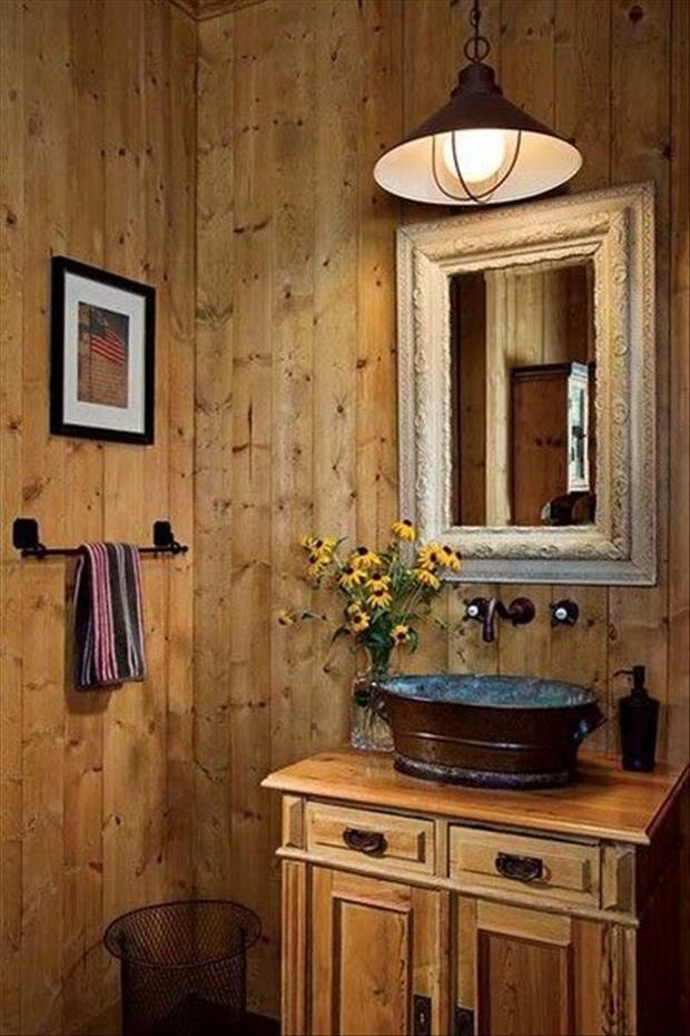 diseño de baños madera