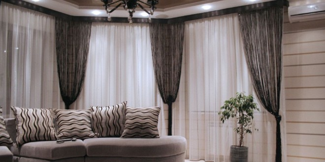 dise o elegante cortinas salon hoy lowcost