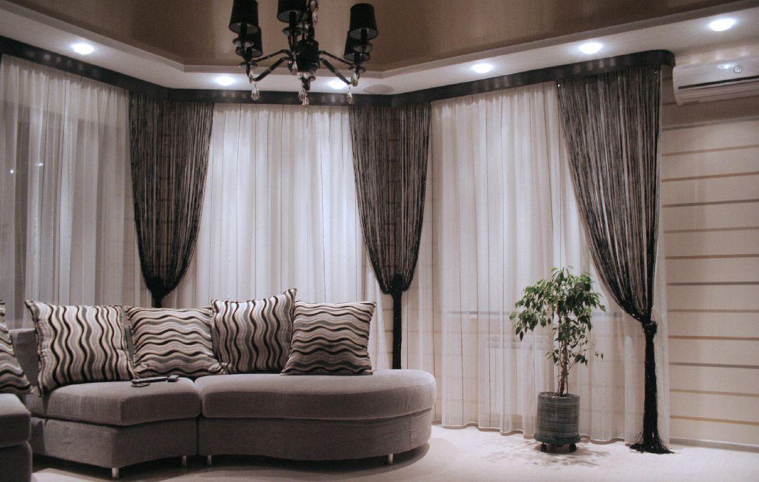 diseño elegante cortinas salon