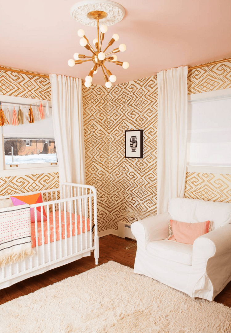 diseño retro dormitorio bebe