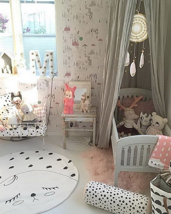 Decorar habitaci n beb ltimas tendencias hoy lowcost - Dormitorio para ninas ...