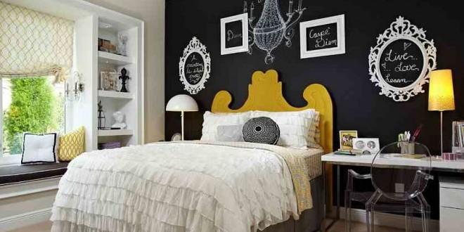 Dormitorios de matrimonio con pintura pizarra hoy lowcost - Pinturas originales para dormitorios ...