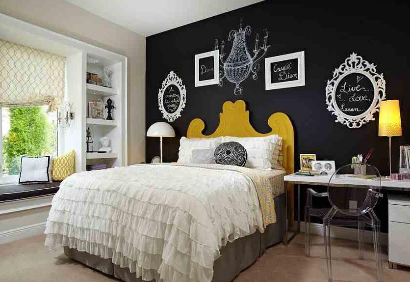 dormitorios de matrimonio con pintura pizarra