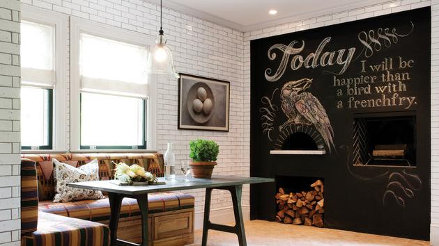 Pintura de pizarra usos e ideas originales hoy lowcost - Decoracion de interiores originales ...