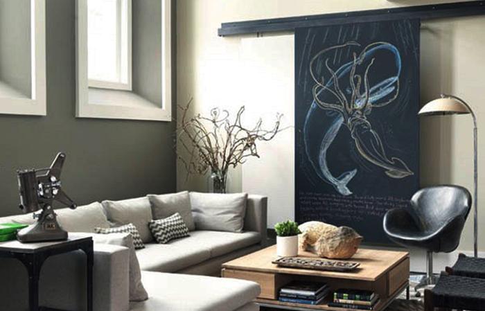 ideas decoracion puertas pintadas en pizarra