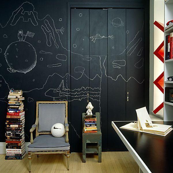 ideas pintura de pizarra en decoracion dormitorios