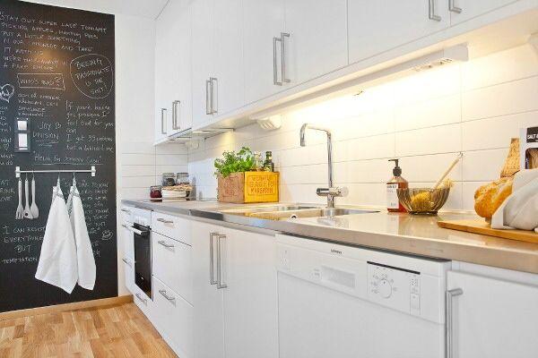 paredes cocina con pintura pizarra