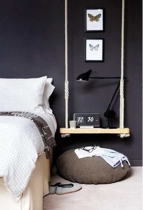 paredes de pizarra en dormitorios matrimonio