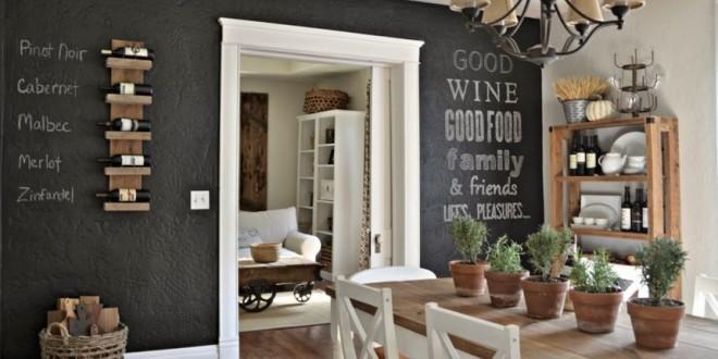 Paredes pintura pizarra decoracion interiores hoy lowcost for Decoracion de interiores pintura