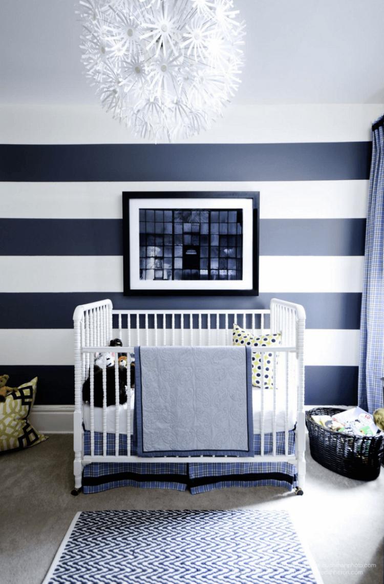 paredes rayas decorar cuarto bebe compartir