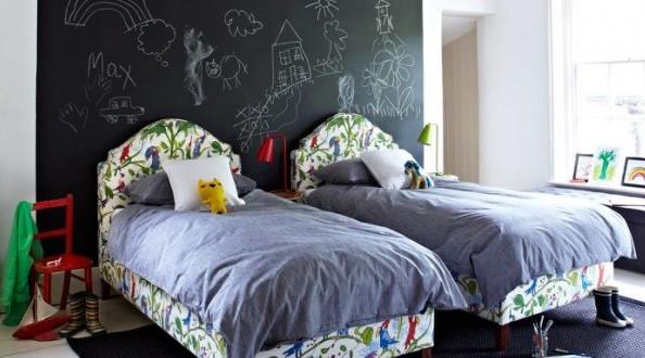 Pintura de pizarra dormitorios juveniles hoy lowcost - Pinturas para habitaciones juveniles ...