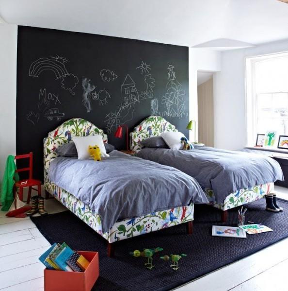 Pintura de pizarra usos e ideas originales hoy lowcost - Pintura para habitaciones ...