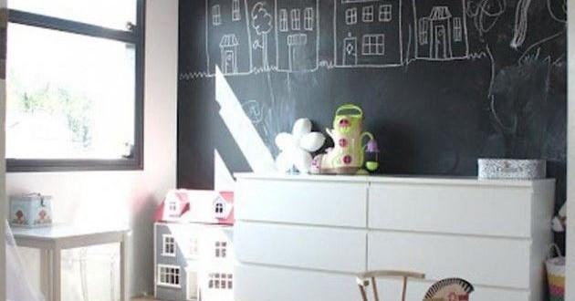 Pintura de pizarra en decoracion dormitorios juveniles - Decoracion dormitorios juveniles pintura ...