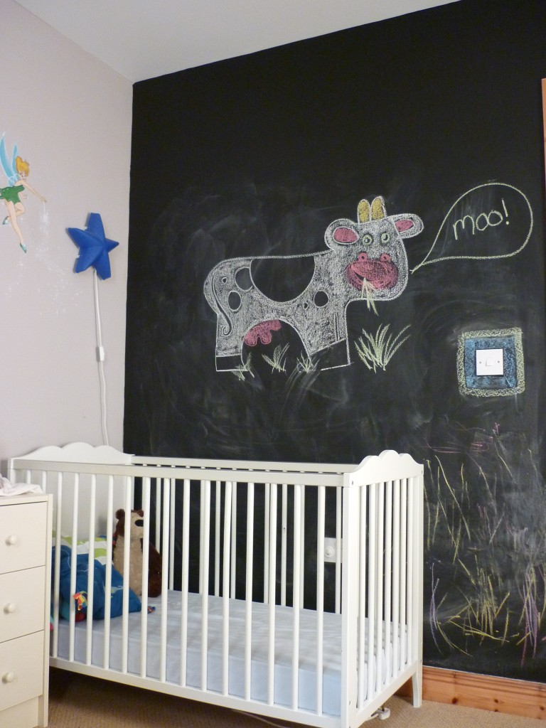 pintura de pizarra en dormitorios de niños