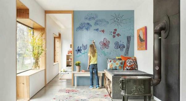 Pintura de pizarra usos e ideas originales hoy lowcost - Pinturas para habitaciones juveniles ...