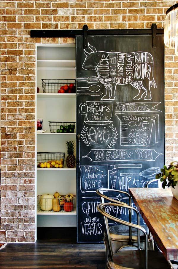 pintura pizarra puertas armario despensa
