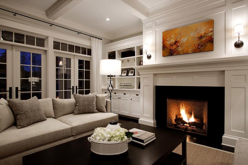 salones con chimenea diseño