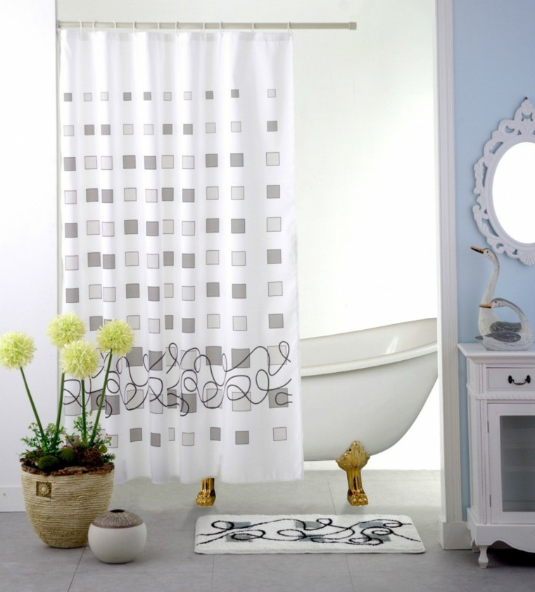 50 ideas decoraci n cortinas para 2018 hoy lowcost for Cortinas de bano modernas