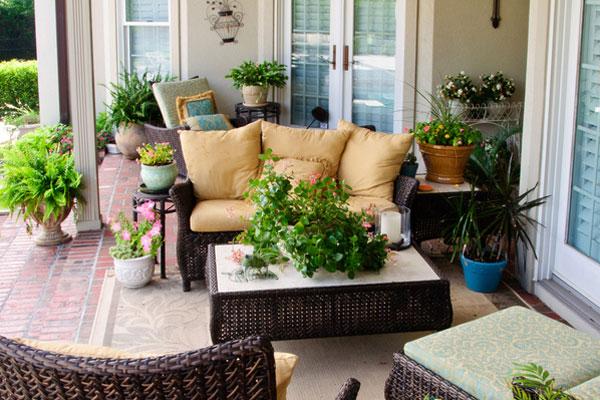 tendencias salones con jardin