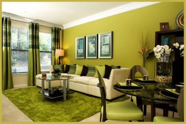 decoracion colores verdes