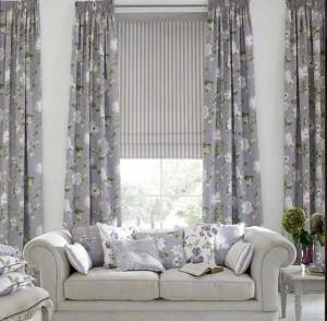 Decoracion estores y cortinas salon hoy lowcost - Modelos cortinas salon ...
