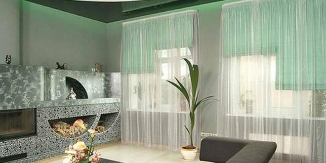 Decoracion ventanas estores y visillos hoy lowcost for Visillos estores para salon
