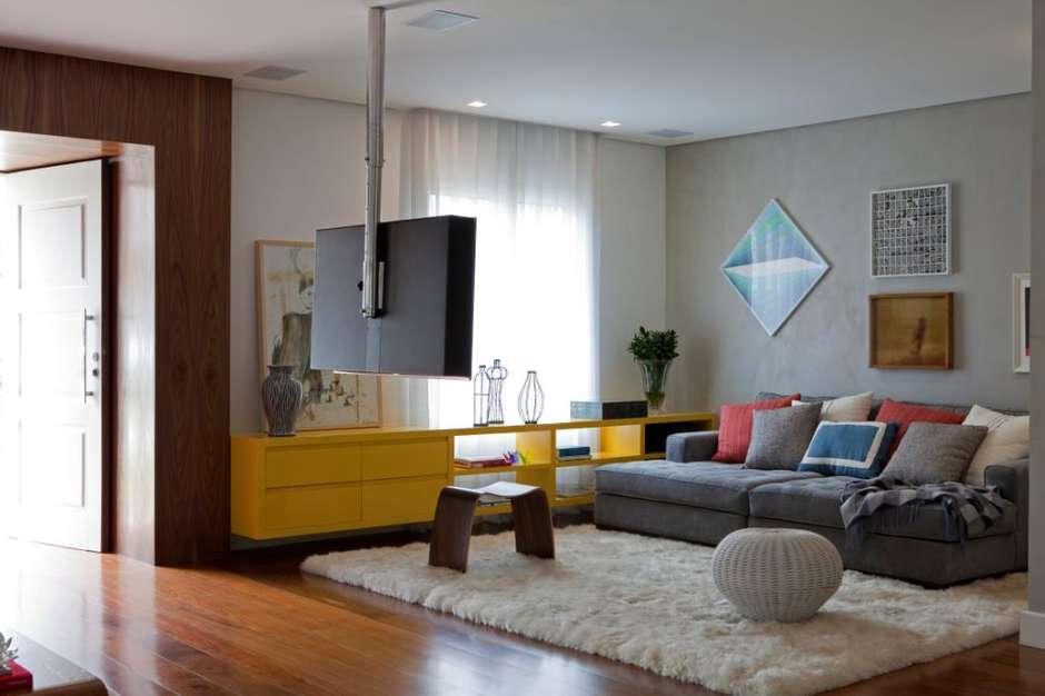 decorar salones pequeños con tv