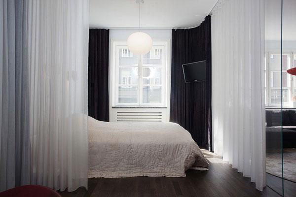 dormitorio diseño cortinas