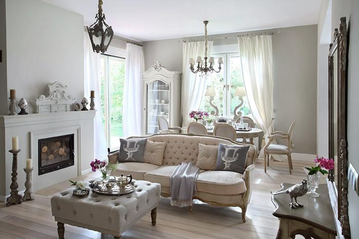 casas lujosas muebles blancos