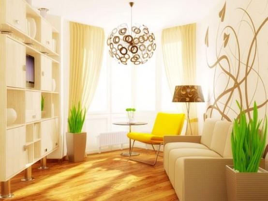 salon pequeño moderno