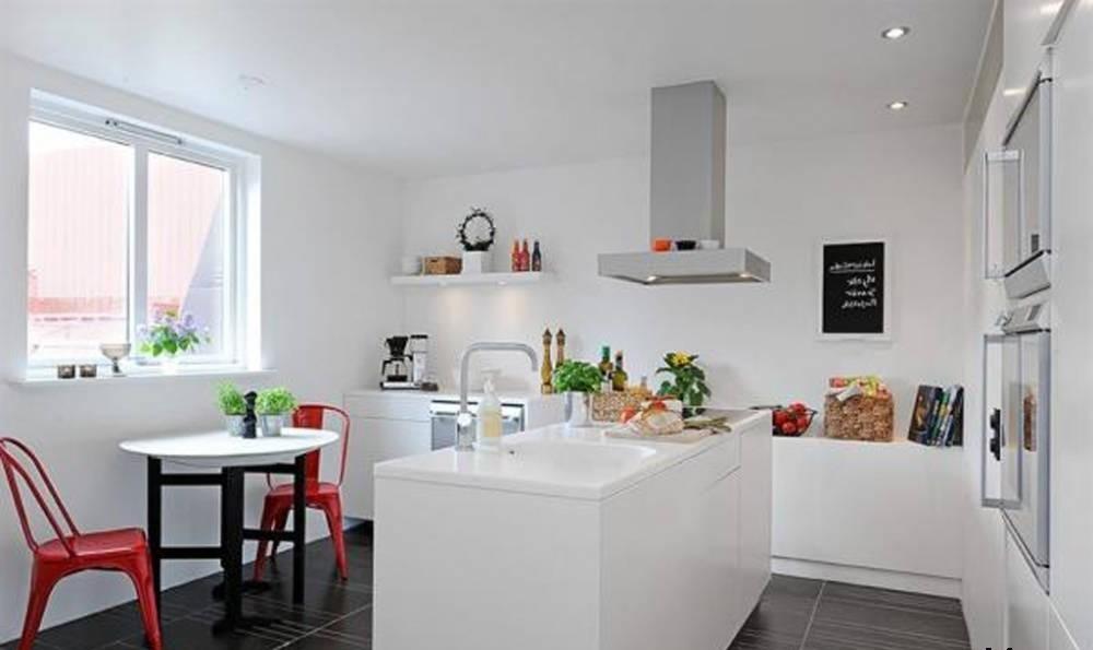 Cocinas modernas blancas con isla dise os for Cocinas blancas modernas 2016