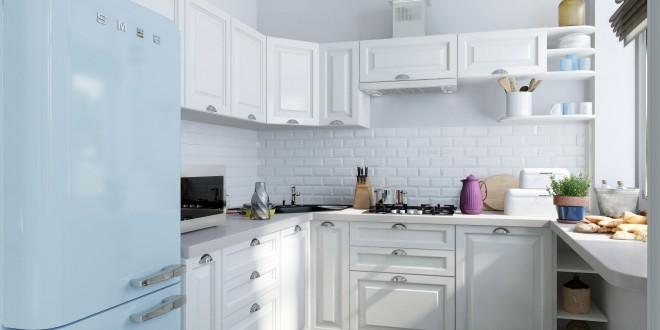 Cocina blanca cocina blanca de estilo minimalista de la for Muebles rey cocinas