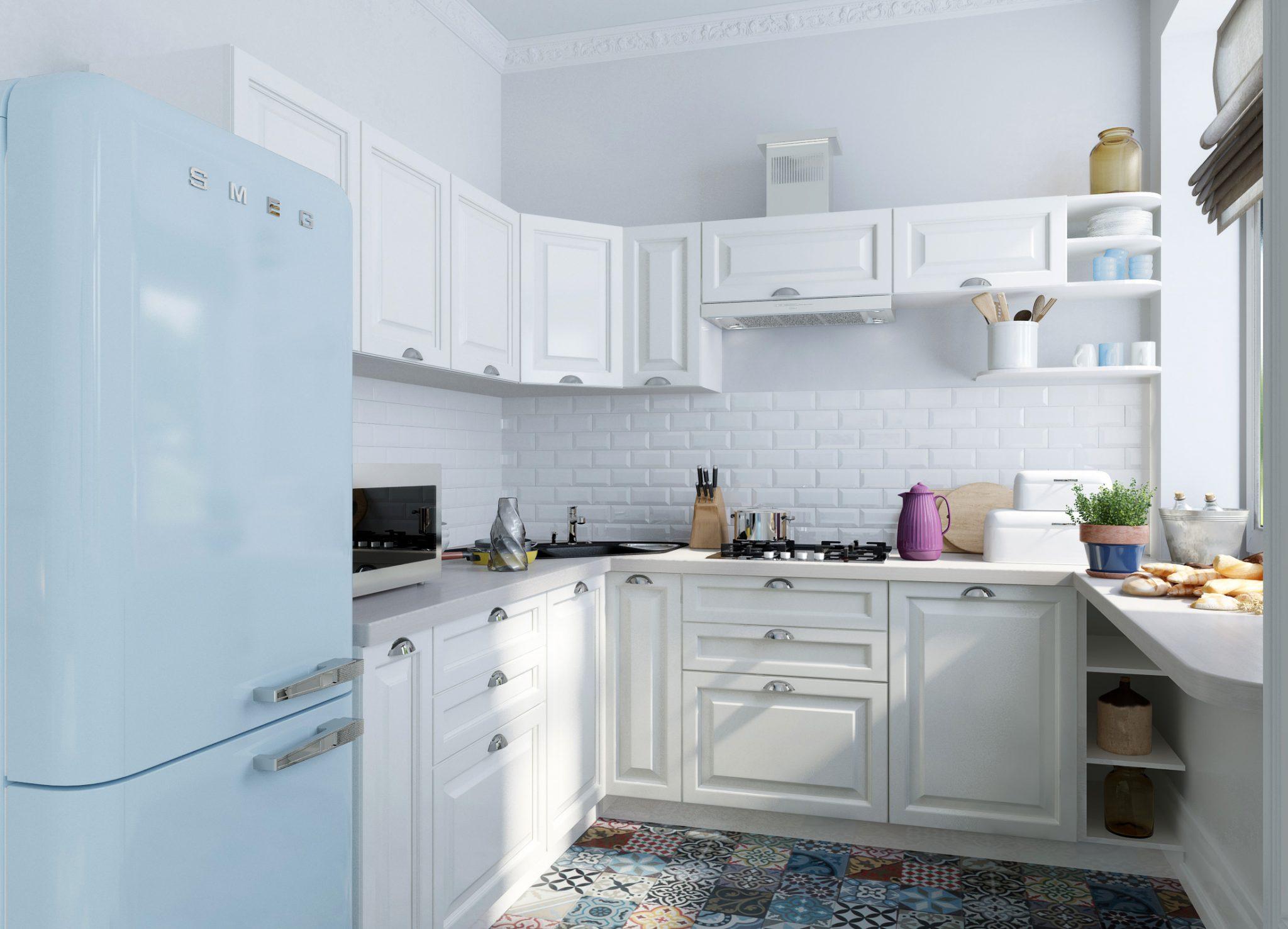 Cocina blanca suelos ceramica hoy lowcost for Cocinas blancas