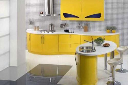Cocina moderna blanca y amarilla hoy lowcost - Cocina blanca moderna ...