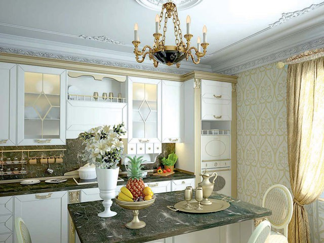 cocinas blancas clasicas - Cocinas Clasicas Blancas