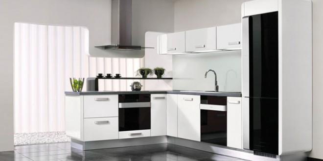 Cocinas blancas y negras modernas hoy lowcost for Cocinas modernas blancas 2016