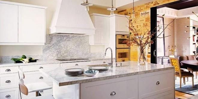 Decoracion encimeras granito cocinas hoy lowcost for Cocinas blancas con granito