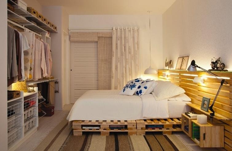 101 ideas de decoracion con palets hoy lowcost - Dormitorios con palets ...